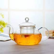 details about gift heat resistant clear glass teapot with infuser coffee tea leaf herbal pot