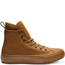 converse chuck taylor all star waterproof high top burnt caramel burnt caramel