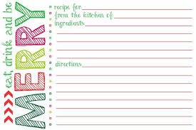 Recipe Paper Template Holiday Recipe Card Template Free Andone Brianstern Co