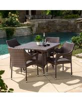arden outdoor 5 piece wicker dining set by christopher knight home multi brown brown size 5 piece sets patio furniture metal