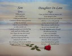 wedding gift ideas for my daughter and son in law ~ imbusy for Wedding Card Verses For Son And Daughter In Law son & daughter in law personalized poems christmas gift ebay wedding card messages for son and daughter in law
