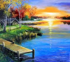 fair masters winter landscape winter sunset blue paint bright sun painting
