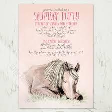 13th Party Invitations Pony Dreams Slumber Party Birthday Invitation 10 Pk