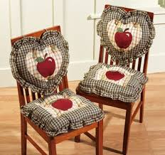 Country Plaid Check Apple Kitchen Chair Cushions | Apple Kitchen |  Pinterest | Kitchen chair cushions, Apples and Kitchens