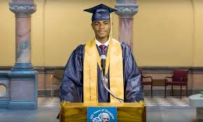 First Black Valedictorian Speaks At City Hall After High School