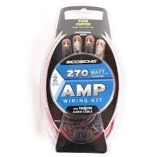 scosche kpa12 270 watt 12 gauge wiring kit for single amplifier