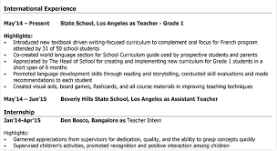 How To Write A Professional Teachers Cv Example Format