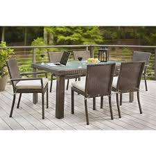 Hampton Bay Beverly 7 Piece Wicker Outdoor Patio Dining Set with