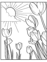 Spring Coloring Pictures Free Printable Pages For Adults Pdf