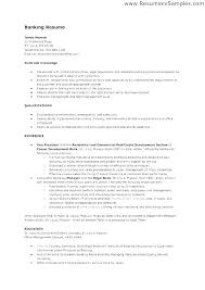 Resumes For Bank Bank Sample Resume Sample Resume For Banking Operations Manager New