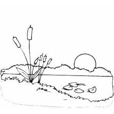 Small Picture Sunset Coloring Page