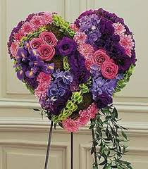 standard flower size purple heart stadium flowers