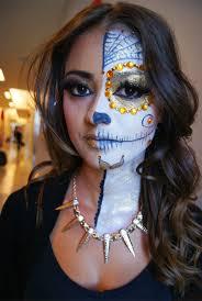 sugar skull makeup half face alva jay