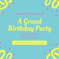 Boys Birthday Party Invitations Templates Customize 2 781 Kids Party Invitations Templates Online Canva