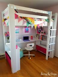 diy loft bed with desk