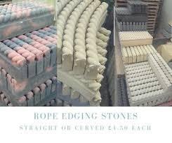 garden rope top concrete edging stones