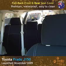 custom fit waterproof neoprene toyota prado j150 full back front rear seat
