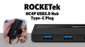<b>Rocketek</b> HC4P - <b>Multi USB 3.0</b> Hub 4 Port Type-C - YouTube