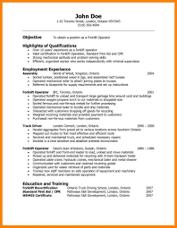 Warehouse Resume Resume Objective Examples For Warehouse Worker Of Resumes Summer 11