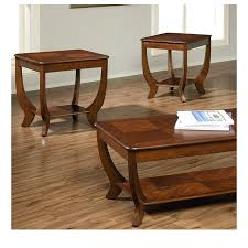 3 piece cherry coffee end tables