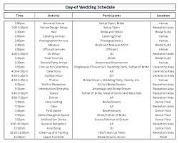 Wedding Run Sheet Template Excel Midway Media