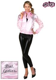 grease plus size pink las jacket