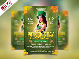 Green Party Flyer Free Psd Saint Patricks Party Flyer Psd Template By Psd