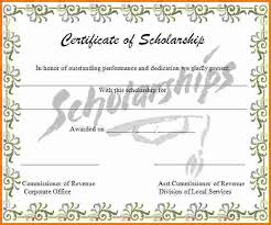 scholarship award certificate templates 4 scholarship award certificate expense report