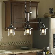 allen roth bristow 36in w 3light mission bronze kitchen island light with clear shade ceiling pendant fixtures amazoncom light fixtures t32