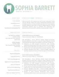 Dental Hygienist Resume Cv Dentist Template Assistant Template