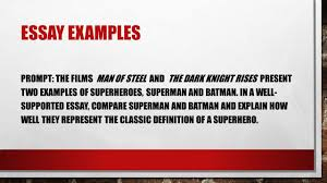 organizing your compare contrast essay superman vs batman ppt  9 essay examples prompt the