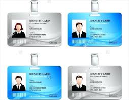 Vertical Id Badge 1 Word Identification Card Template Id