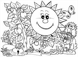 Small Picture Spring Coloring Pages Printable Free With Spring Coloring Page
