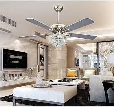 crystal chandelier ceiling fan light