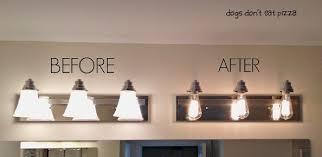 industrial style bathroom lighting. Contemporary Industrial DIY Industrial Light For Vanity In Style Bathroom Lighting A