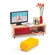 contemporary dollhouse furniture. Fine Dollhouse Djeco Contemporary Doll House Furniture  Petit Home The TV Room Milk  Tooth  In Contemporary Dollhouse Furniture R