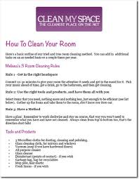 cleaning checklists printables clean my space