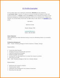 Personal Profile Examples For Resumes Business Letters Sample Sample Resume  Profile Profile For Resume Personal Profile