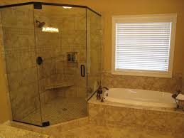 ideas bathroom tile color cream neutral: classic house redesign glass shower walls antique bathroom faucets light painted walls tiled shower flooring
