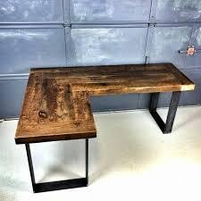 l shaped desk diy.  Desk L Shaped Desk Ideas Wooden Diy U Lovely Reclaimed Wood  Onsingularity For T