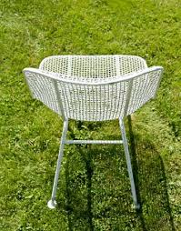 white iron outdoor furniture. white mesh chair iron outdoor furniture o