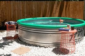 stock tank pool my backyard oasis