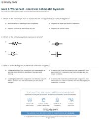 Quiz Worksheet Electrical Schematic Symbols Study Com