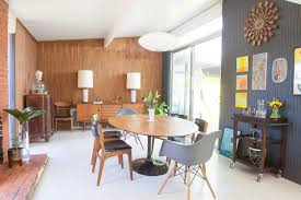 dining room table lighting. (Products Shown: Nelson™ Saucer Bubble Pendant From George Nelson Lamps, Eames® Molded Plastic Armchair With Dowel-Leg Base Herman Miller. Dining Room Table Lighting I