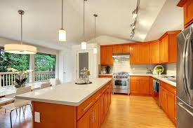 honey shaker quartz countertops with oak cabinets natural maple