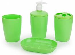 <b>Набор аксессуаров для ванной</b> комнаты Aqua (салатный)