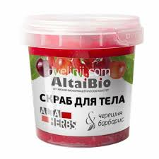 AltaiBio <b>Скраб для тела</b> черешня, <b>барбарис</b> с морской солью