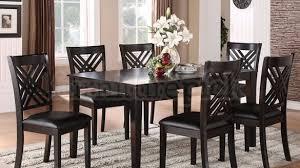 7 piece black dining room set. 7 Piece Black Dining Room Set 8489 Sets
