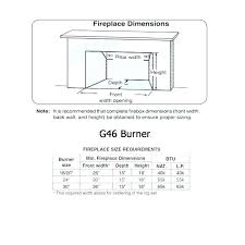 outdoor fireplace dimensions fireplace sizing gas outdoor fireplace sizing chart