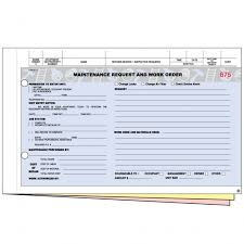 Maintenance Work Order Forms 3 Parts Keeps Track Of Maintenance And